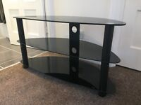 TV audio video high-gloss black stand