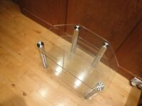 Glass TV stand 600mm wide