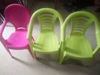 3 child Chairs for kids