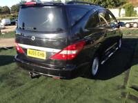 2006 55reg Ssangyong Rodius 2.7 CDI Black 7 Seater Top Spec Low Miles