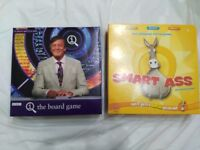 QI and Smart Ass Board Games