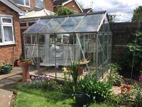 Aluminium greenhouse for sale.
