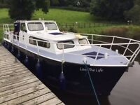 30' DUTCH STEEL MOTOR CRUISER , MITSUBISHI 40HP DIESEL £14950