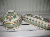 Victorian soap dish and toothbrush holder