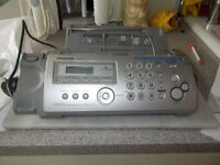 Panasonic Fax machine model KXFP215 as new, unused gift. Complete with instructions etc