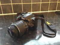 NIKON D3200 with 2 lenses (18-55mm & 55-300mm)