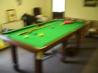 Snooker/Pool Table Mahogany Slate Bed