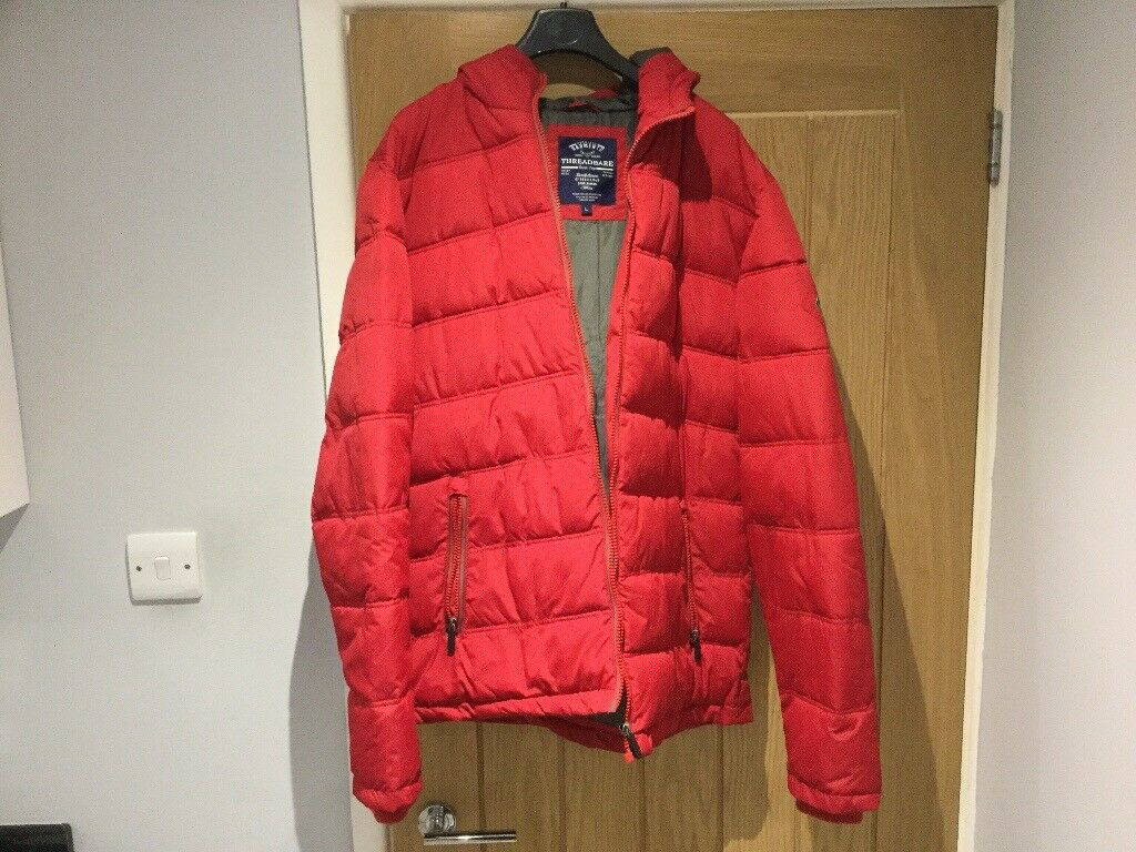 Men's red puffer coat