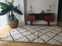 Morrocan Beni Ourain lambswool rug