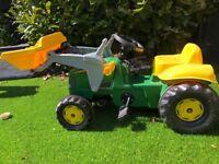 Child's John Deere Ride on Tractor & Trailer