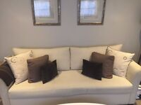 Natural Off-White 3 Seater SofaBed