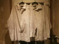 """Two Gents Striped Shirt 20"""" Collar."""