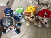 Paw patrol fluffy toys x 5