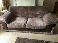 DFS 3 seater jumbo cord sofa £60
