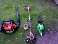 Petrol strimmer petrol blower petrol chainsaw