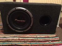 Pioneer's in car subwoofer large