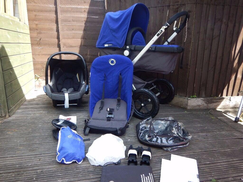 Bugaboo Cameleon Travel System Blue Fleece