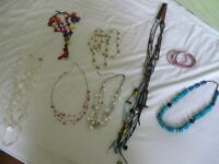 selection of costume jewellry - 10 pieces