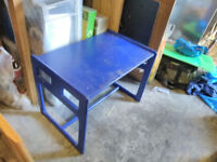 Children's desk blue colour very sturdy