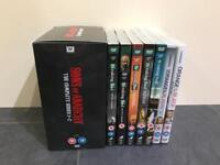 Sons of Anarchy 1-7, Breaking Bad 2-final, Orange is the New Black 1-2 DVDs