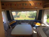 4 Berth Caravan - full size bunkbeds + full size double bed. Excellent condition