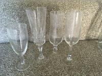 Cutlery, glasses, carafes / jugs for wedding or party
