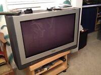 "Massive old 30"" analogue television"