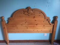 Wooden hand carved headboard for double bed