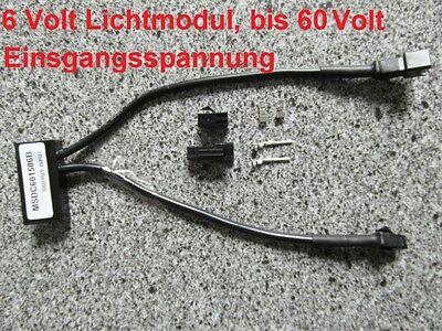 6 VOLT Lichtmodul input bis 60V für Pedelec, E-Bike, Elektrofahrrad, E-Mobile