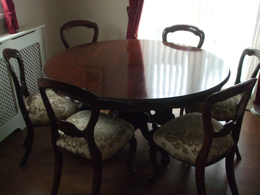 Vintage Circular Dining Table With 6 Chairs In Whitchurch Cardiff Gumtree