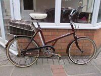 Raleigh Twenty - Vintage 1975 Ladies Road Bike Town Bicycle / Shopping Bike