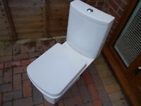 BATHROOM INSIDE OUTSIDE TOILET FOR SALE COMFORT SEAT HEIGHT SOFT CLOSE LID RAX CERAMICS BARGAIN L@@K