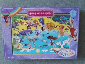 Rainbow Magic Picnic On The Beach 250 Piece Glitter Jigsaw Puzzle - As New