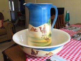 Wash jug and bowl