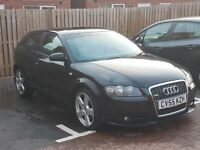 Audi A3 TFSi 2.0 s-line quattro 4wd 3 door black with great service history