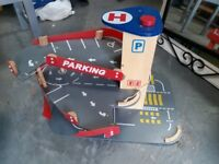 Toy Garage. Car childrens wooden