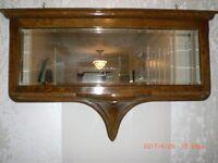 Victorian Wall Mirror. A very attractive victorian hall/wall mirror, in lacquerd oak veneer