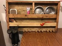 Dog storage for food bowls and toys etc