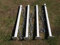 4 Boundary/Drive Metal posts