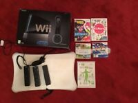 Nintendo Wii, fit board, games and accessories
