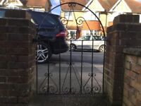 Black Metal Garden Gate, In Good Condition!!
