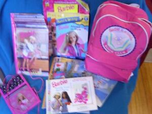Barbie Books and Backpack etc