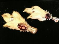 Pair of Vintage (One Silver) Grouse Foot Brooches