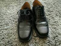 Mens Leather Brogues Smart Formal Office Casual Lace Up Oxford Brogue Shoes