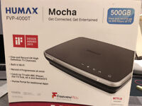 HUMAX FVP-4000T. 500GB storage for recording 300 hrs of TV