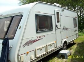 5 Birth Elddis Crusader Aurora Caravan Fixed end double bed, 2004 motor mover and lots of extras.