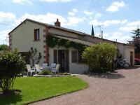 House and Gite in 1500m2 land for sale in Deux Sevres Region of France