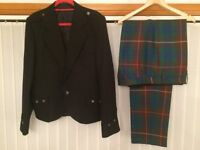 Highland Outfit - Black Jacket and Tartan Trousers