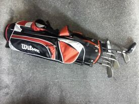 junior set of golf clubs and bag plus assesories