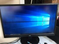 """AOC 24"""" LED TFT Monitor M2470SWH Model: 236LM00014 Serial GGZHAHA120795 In VGC"""